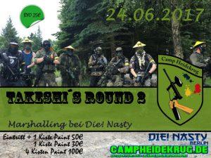 Flyer von der Veranstaltung 24.06. 2017 Takeshi´s Round 2