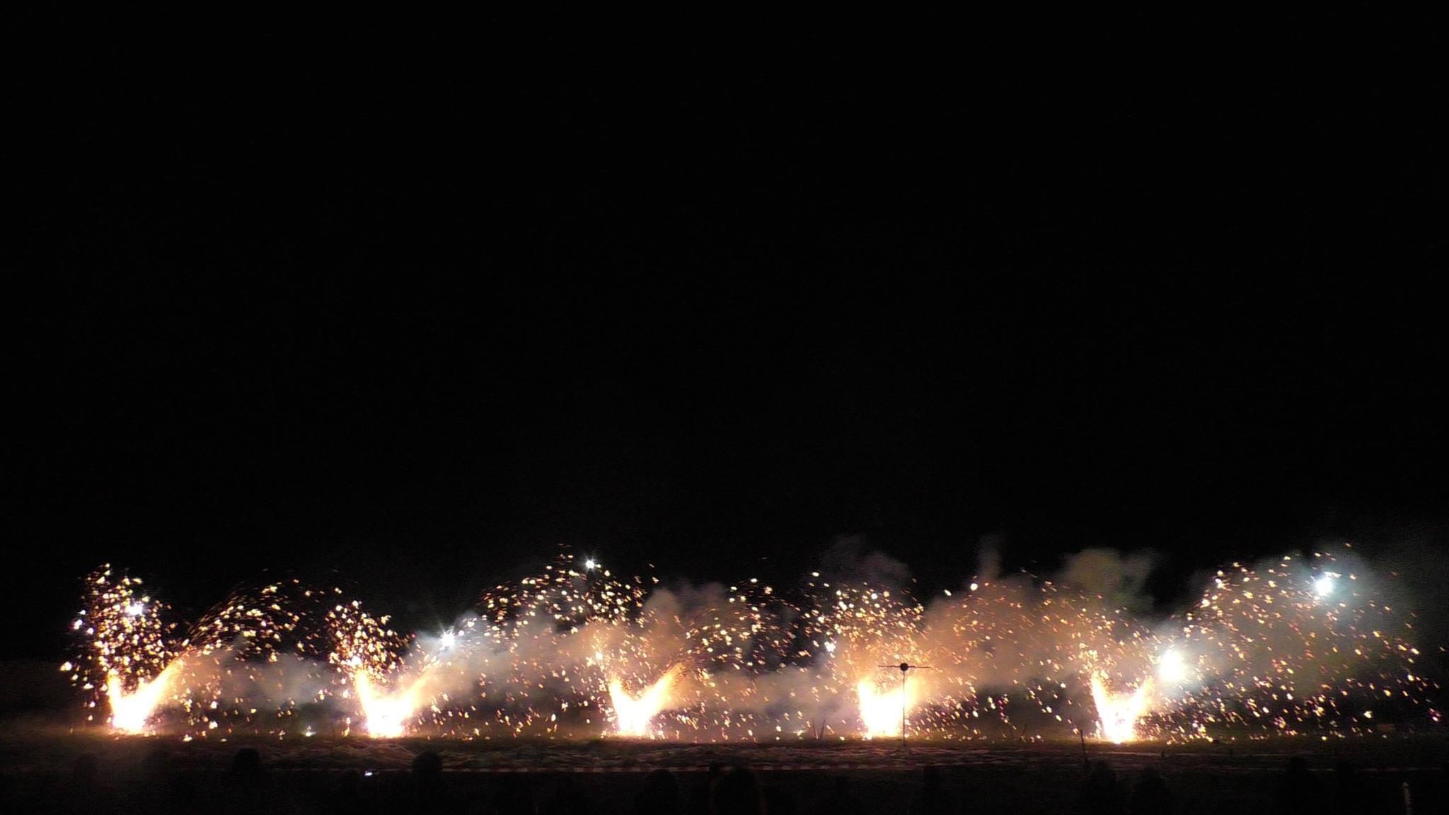Feuerwerk wird im Camp Heidekrug getestet